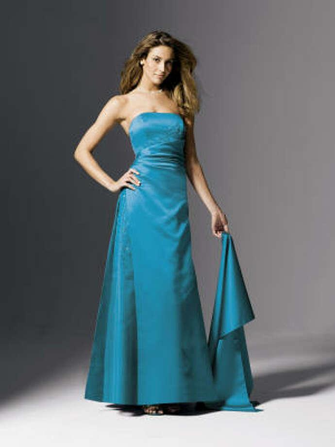 This bridesmaid dress, $185, is from David's Bridal. Photo:  David's Bridal