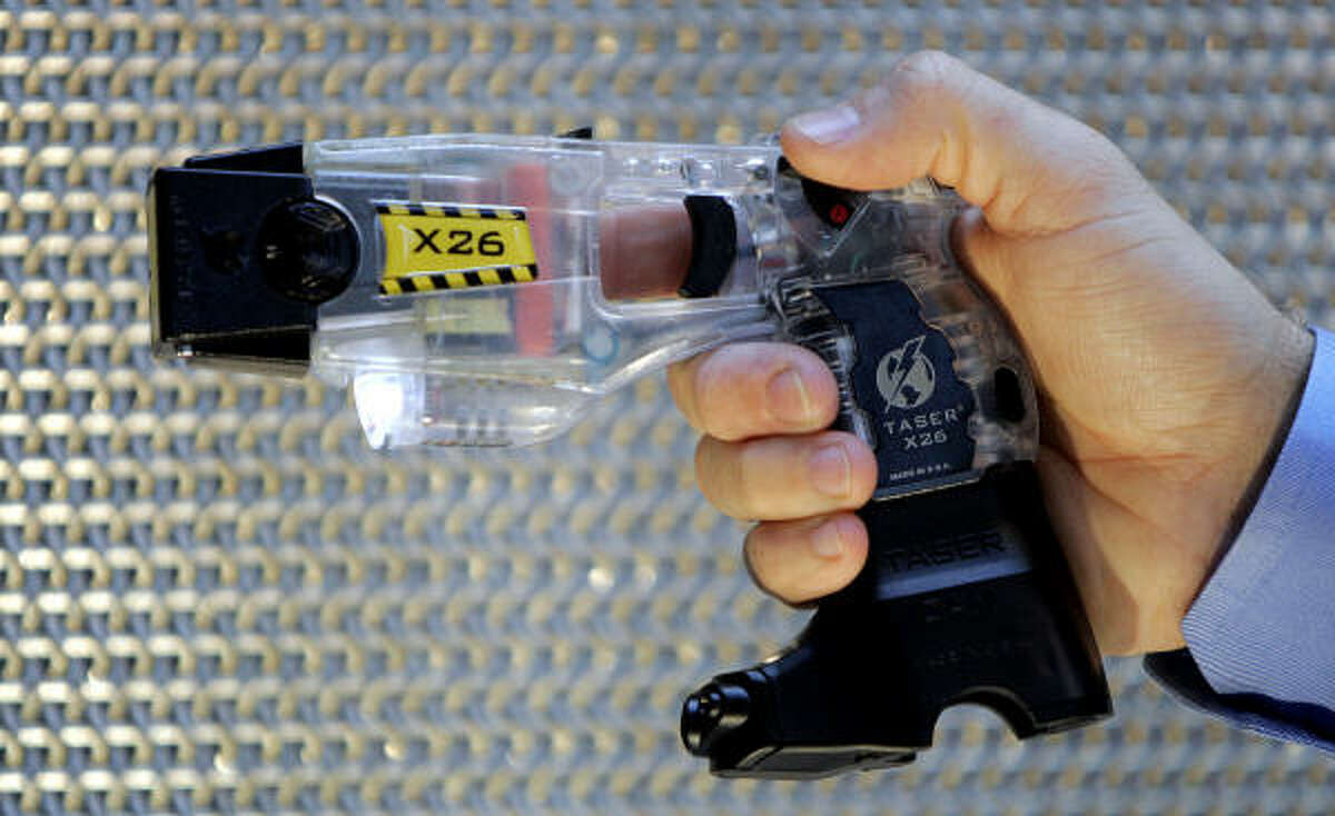 A TASER X26 is the newest model equiped with a TASER Cam. The growing controversy over the use of Tasers and other stun guns has prompted legislators to file several bills clamping down on the devices.