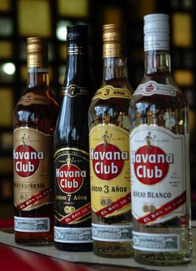 Rums are on display at the Havana Club Rum Museum in Havana. Photo: ANGEL VALENTIN, SOUTH FLORIDA SUN-SENTINEL