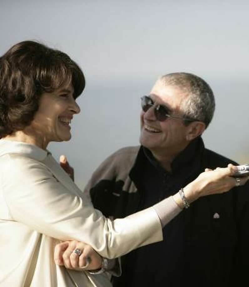 French director Claude Lelouch and actress Fanny Ardant from Roman de Gare. Photo: WORLDFEST