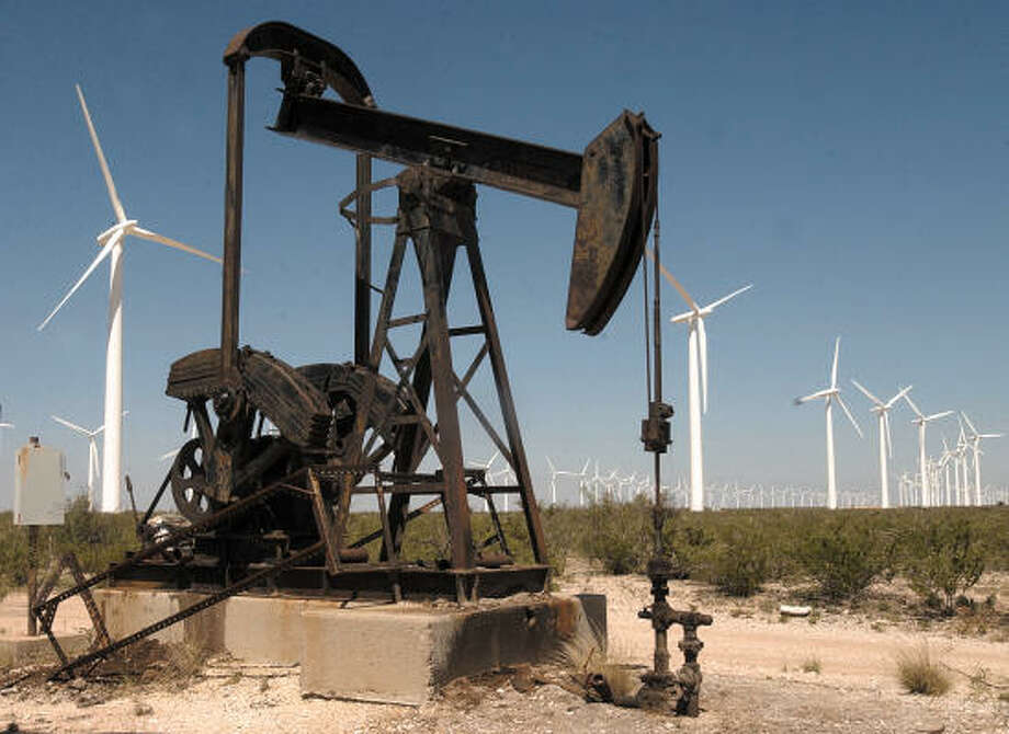 """McCamey, a small town about 50 miles south of Odessa, boasts 800 wind turbines and the title of """"Wind Capital of Texas."""" Photo: NELLIE DONEVA, AP"""
