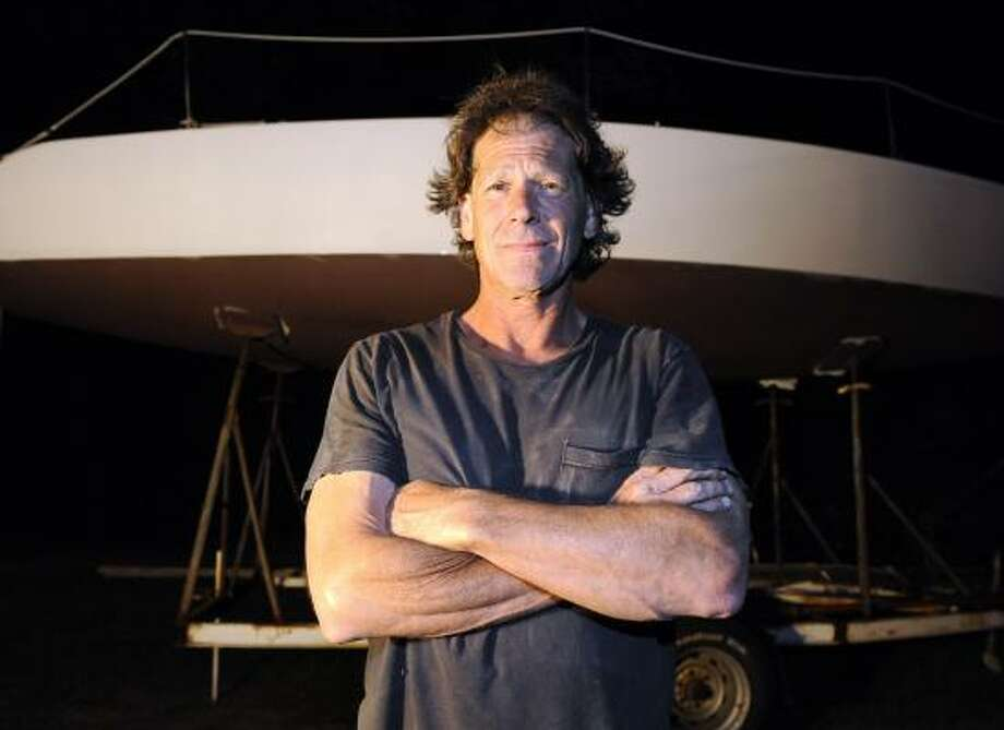 Peter Ross, shown Thursday at his shop in Wakefield, R.I., worked on the prototype for the Cynthia Woods and said he told the vessel's builder that its keel was poorly designed and could fail. Photo: STEW MILNE, FOR THE CHRONICLE