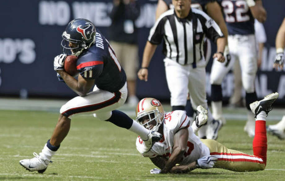 If Andre Johnson is unable to play, Andre Davis will start against Buffalo. Photo: Brett Coomer, Chronicle