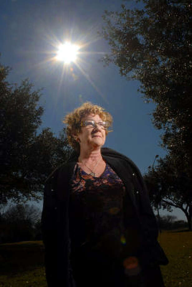 Gail Brittain, president of the Houston UFO Club, says ``I don't care what people think about me. I know what my world is like. I'm sane.'' Photo: Dave Rossman, For The Chronicle
