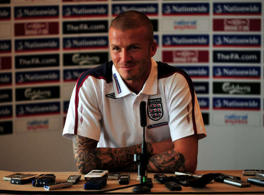 David Beckham is about to make his 100th appearance with England's national team. Photo: Shaun Botterill, Getty Images