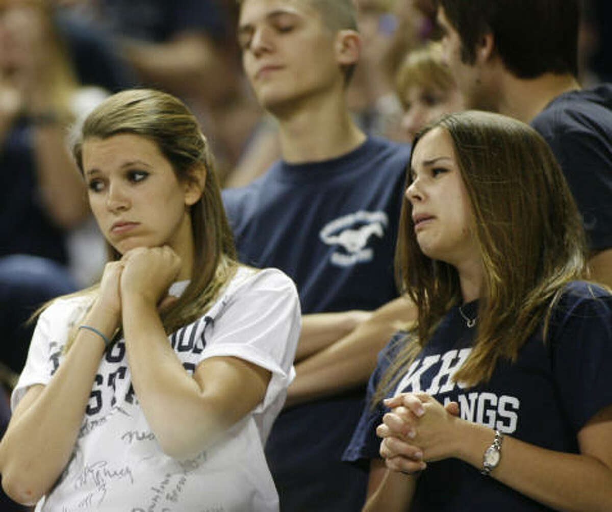 Kingwood and its fans (including Sarah Browning, left, and Katie Gillis) are used to being in the final. Saturday marked their third straight trip, a record for Class 5A.