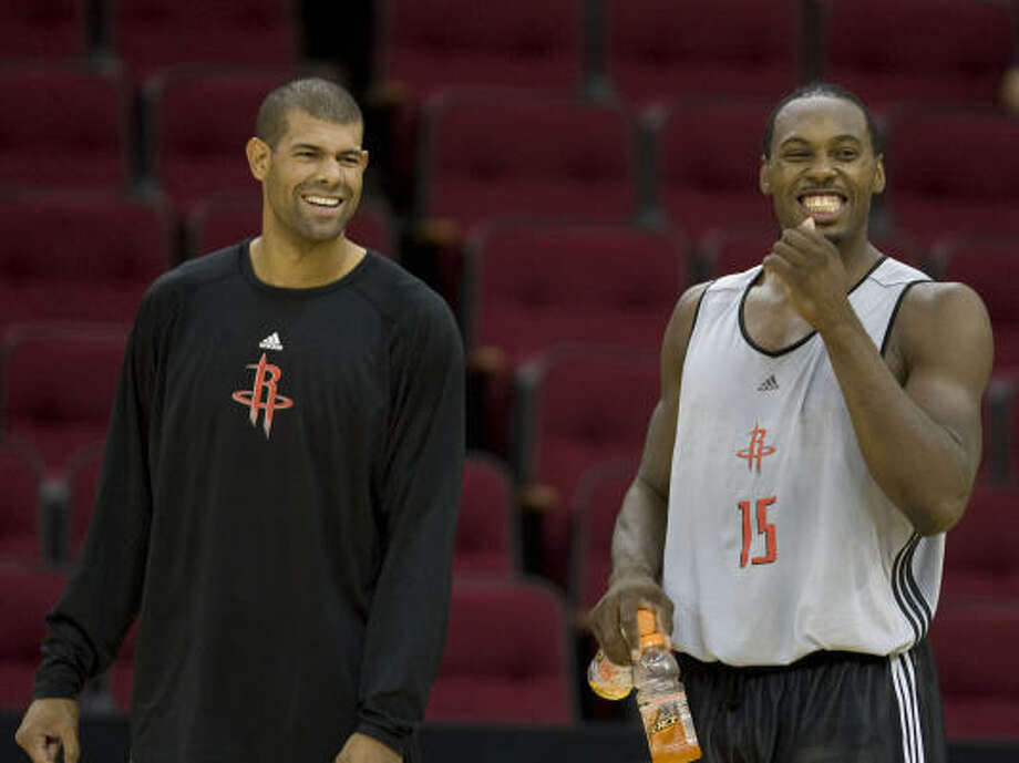 A child of mixed-race parents, Rockets forward Shane Battier, left, shares a kinship with President-elect Barack Obama. Photo: James Nielsen, Houston Chronicle