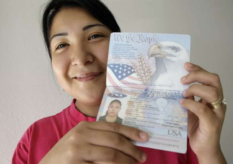 Anna Karen Ramirez, 19, sued the State Department to get her passport so she could visit her parents in Reynosa, Mexico. Photo: Eric Gay, AP