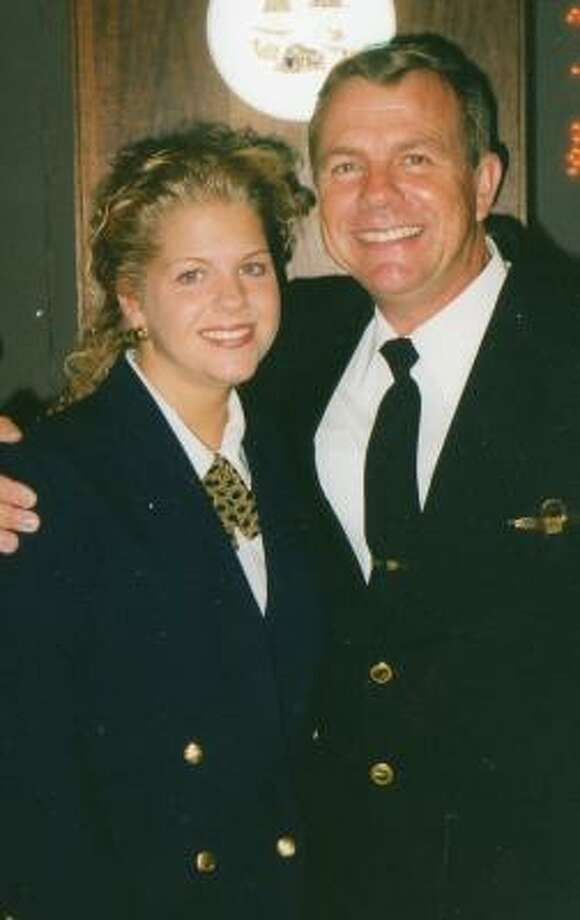 Pilot Craig Lenell is shown with daughter Jennifer Lenell-Small. Photo: KHOU Channel 11