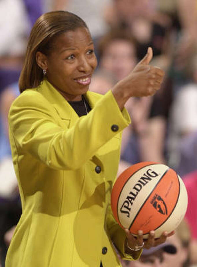 Cynthia Cooper-Dyke won a gold medal in the 1998 Olympics. She was a national champion at Southern California in 1983 and 1984 and a four-time WNBA champion with the Houston Comets. Photo: ROB SCHUMACHER, AZR-D