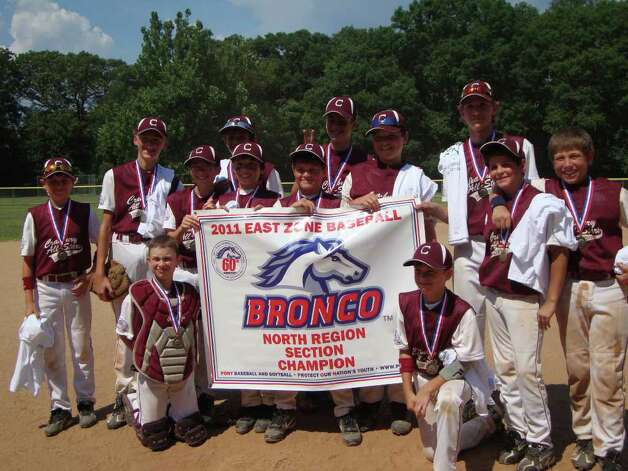 The Norwalk Cranbury Bronco 11- and 12-year-old all-star team defeated Milford 10 to 4 last Saturday to win the PONY Sectional Tournament. Photo: Contributed Photo