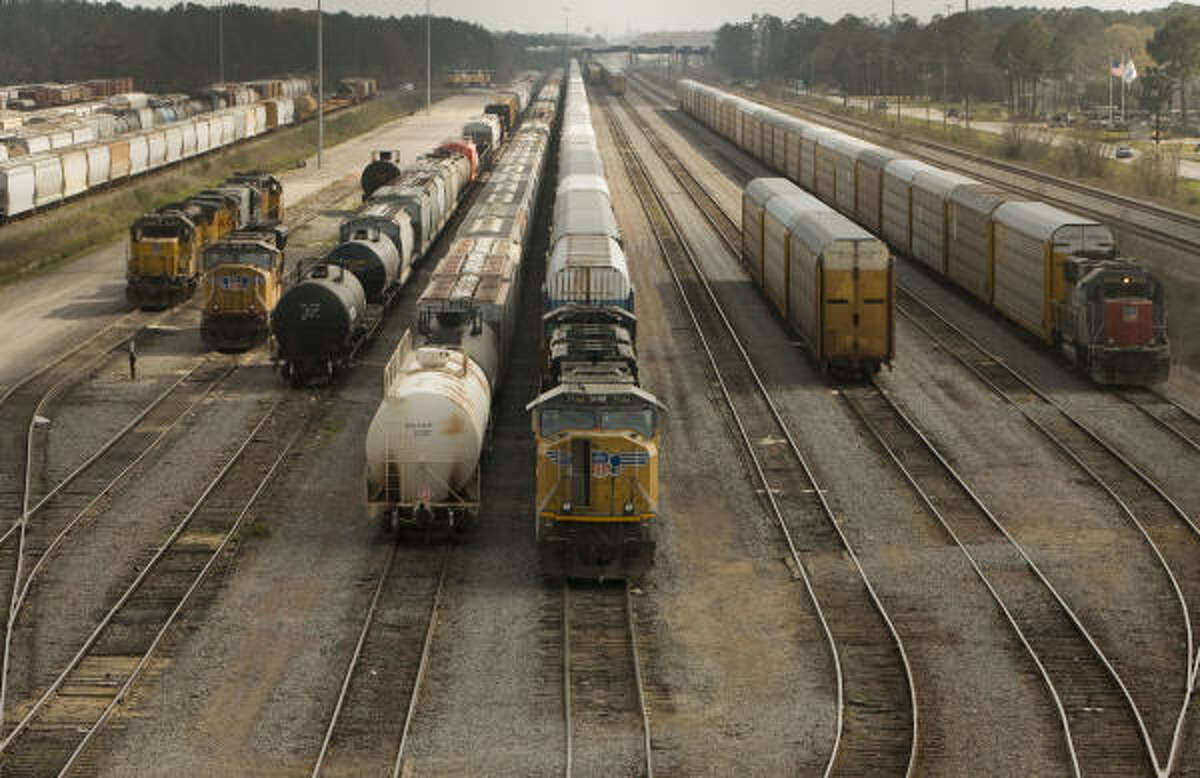 Rail cars at the Lloyd Yard.