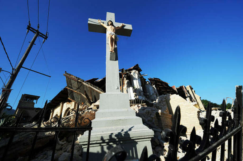 A collapsed church in Port-au-Prince, Haiti, after the country was rocked by a massive 7.0-magnitude quake. Photo: JEWEL SAMAD, AFP | Getty Images