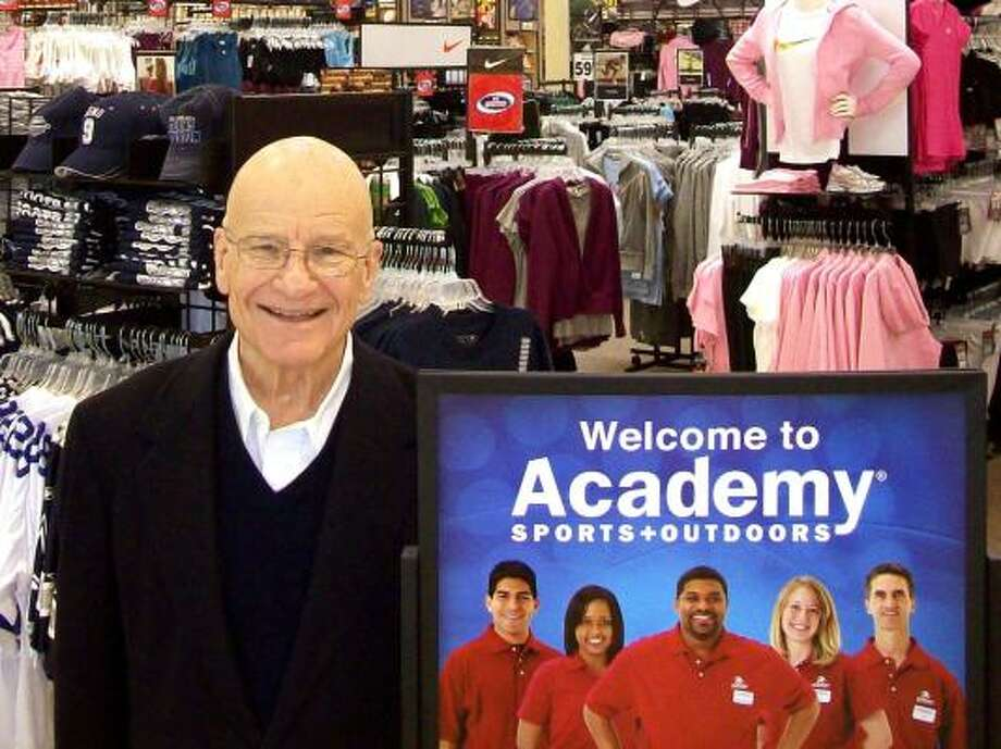#100 (tied) - The Gochman FamilyNet worth: $2.3 billionNo. of family members: 3 (est.)Claim to fame: Academy Sports & OutdoorsCompany headquarters: KatyAcademy's story began with Max Gochman, when he opened a tire shop in San Antonio in 1938. A year later, he scrapped that idea and began selling military surplus, changing the name Academy Tire Shop to Academy Super Surplus. Max and his son Arthur (pictured) continued to sell military surplus until the mid-1980s, when they changed tracks again and began selling outdoor gear, such as fishing and camping equipment. Max's grandson, David, began running the company in 1996 then sold it to a private company for around $2.3 billion. Photo: Courtesy Photo