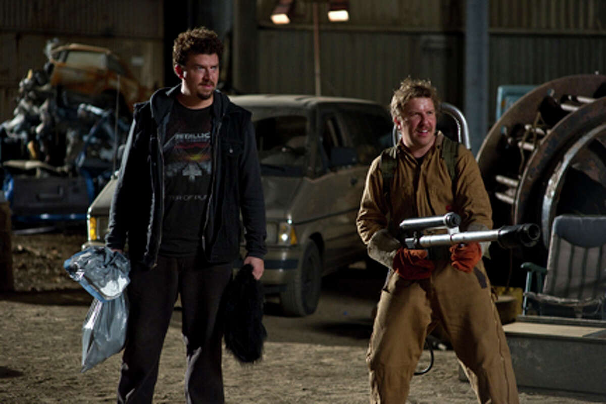 """(L-R) Danny McBride as Dwayne and Nick Swardson as Travis in """"30 Minutes or Less."""""""