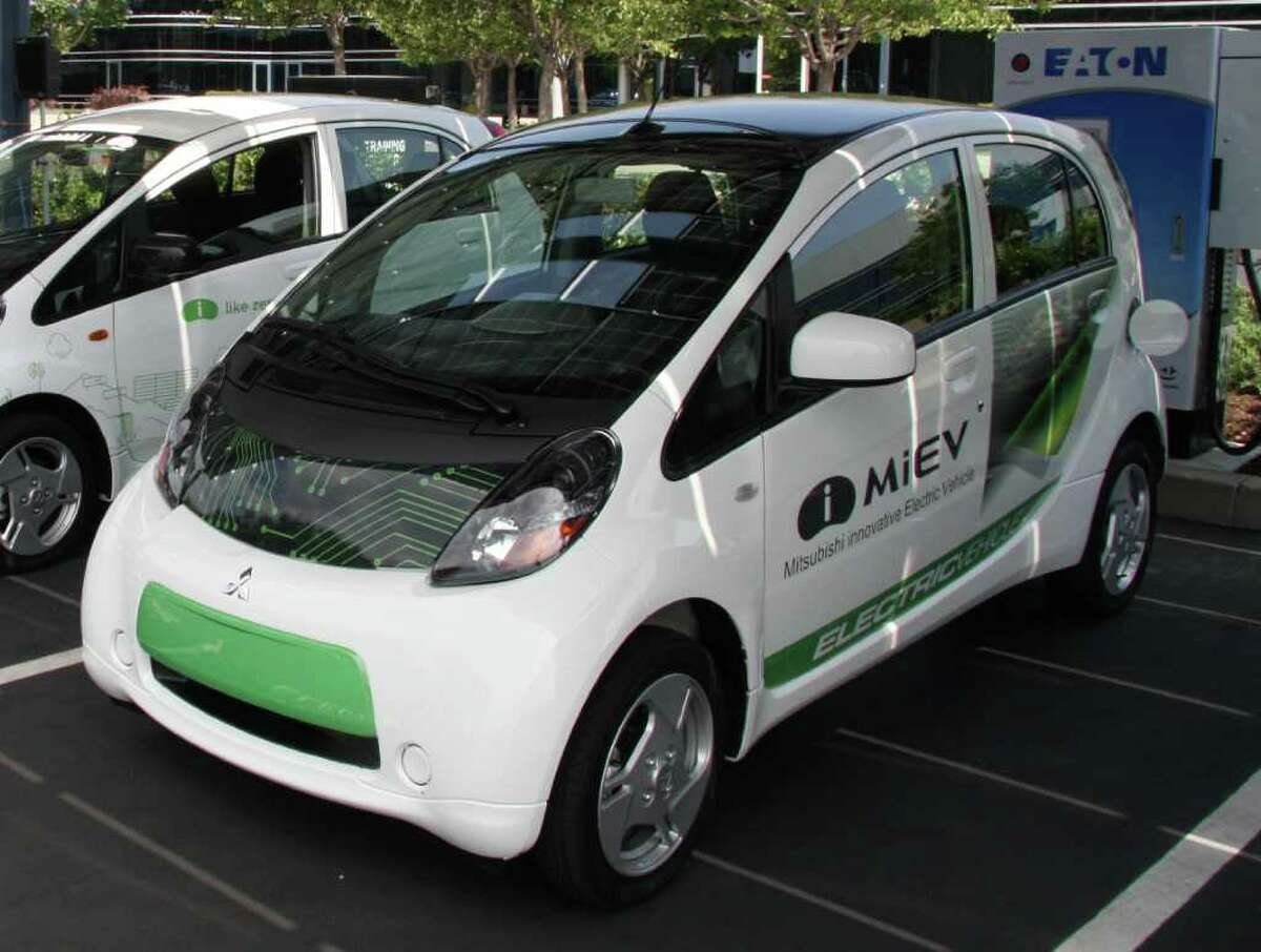 The 2012 Mitsubishi iMiEV subcompact battery-electric vehicle goes on sale later this year with a starting price of $27,990. COURTESY OF MITSUBISHI MOTORS NORTH AMERICA