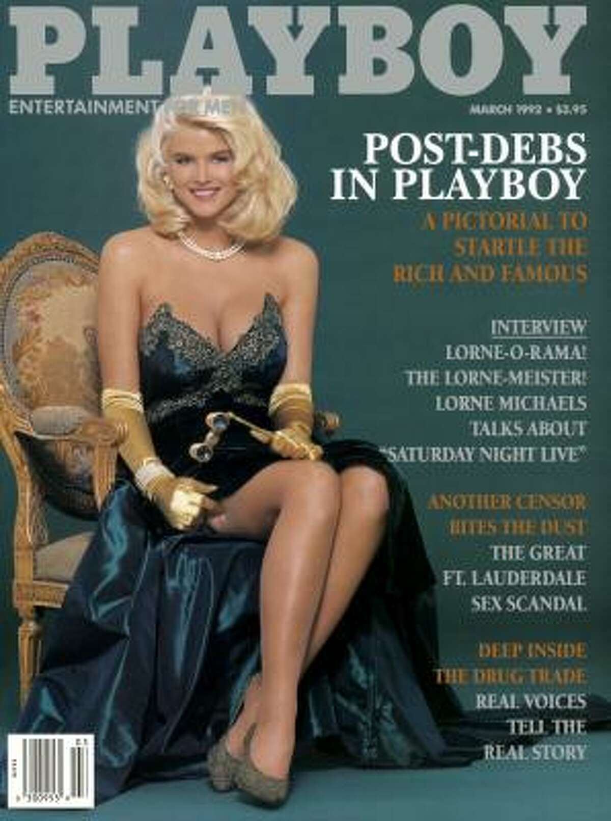 Anna Nicole Smith appeared on the March 1992 issue of Playboy magazine. Like many Playmates before here, Smith died before she was 50.
