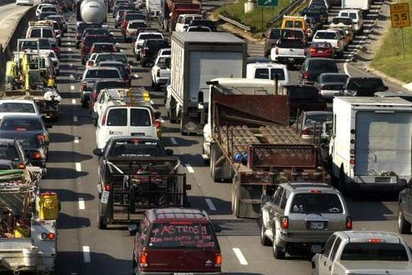 Houston traffic can put anyone in a state of misery as this 2005 file photo demonstrates.