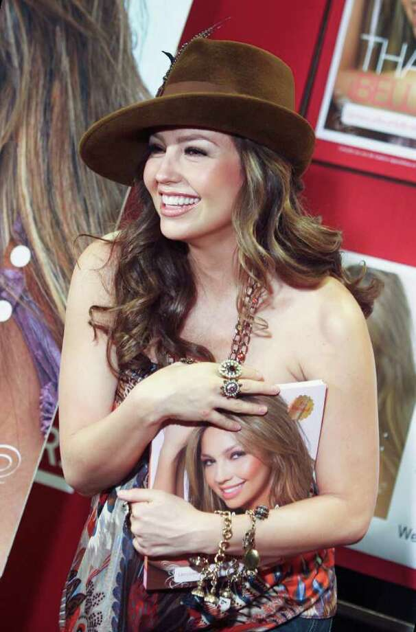Latina pop singer Thalia makes a special appearance at Borders book store to unveil her first book, Thalia: Belleza! Lessons in Lip-gloss and Happiness, a guide to Latina beauty, Wednesday, Sept. 12, 2007 in New York. Photo: Dima Gavrysh, AP / AP