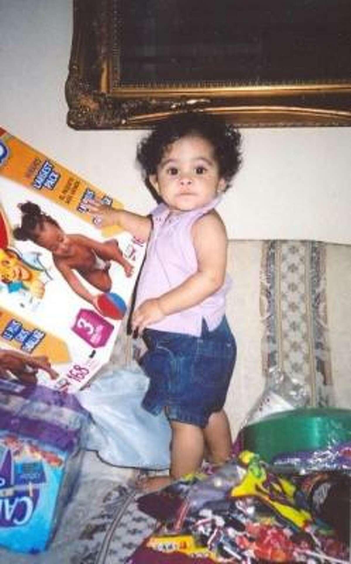 Aliyah Mejia, 2, was inside her family's truck when it was stolen.