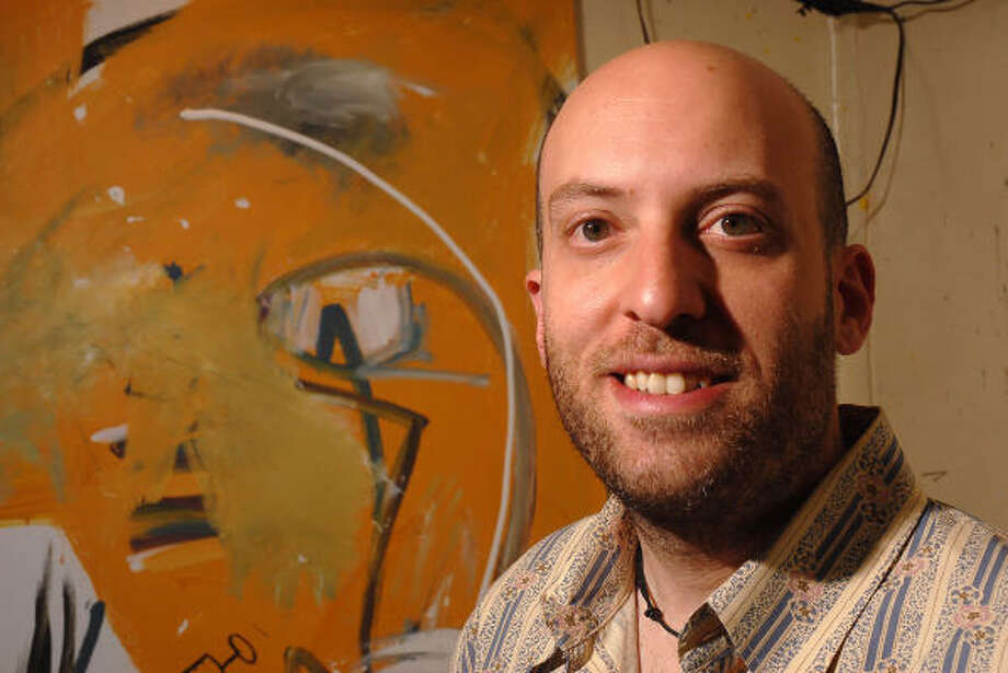 Artist Howard Sherman, a graduate of Sharpstown High School and the University of Texas, is an artist-in-residence at North Harris College. Photo: Dave Rossman, For The Chronicle