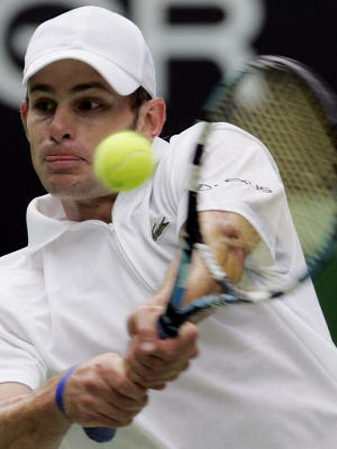 Andy Roddick of the U.S. defeated Mario Ancic of Croatia to set up a quarterfinal matchup against friend and countryman Mardy Fish. Photo: RICK STEVENS, AP