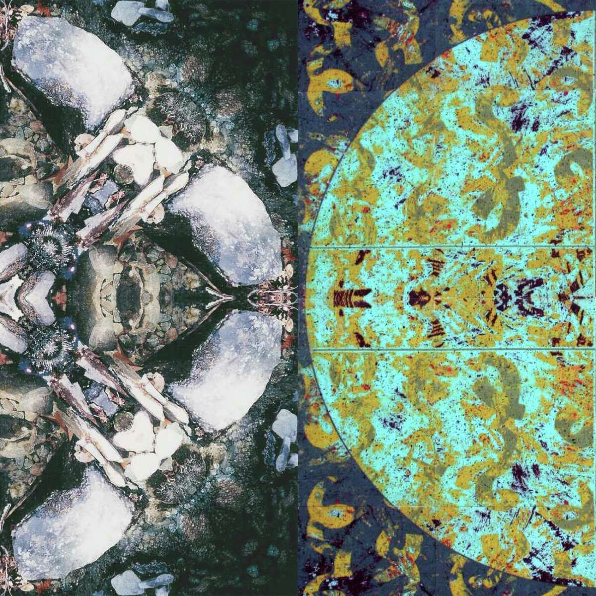 Works by John Arabolos, (left side) and Heidi Lewis Coleman, (right side) are among the pieces in a new exhibit at the Silvermine Arts Center that opens July 31.