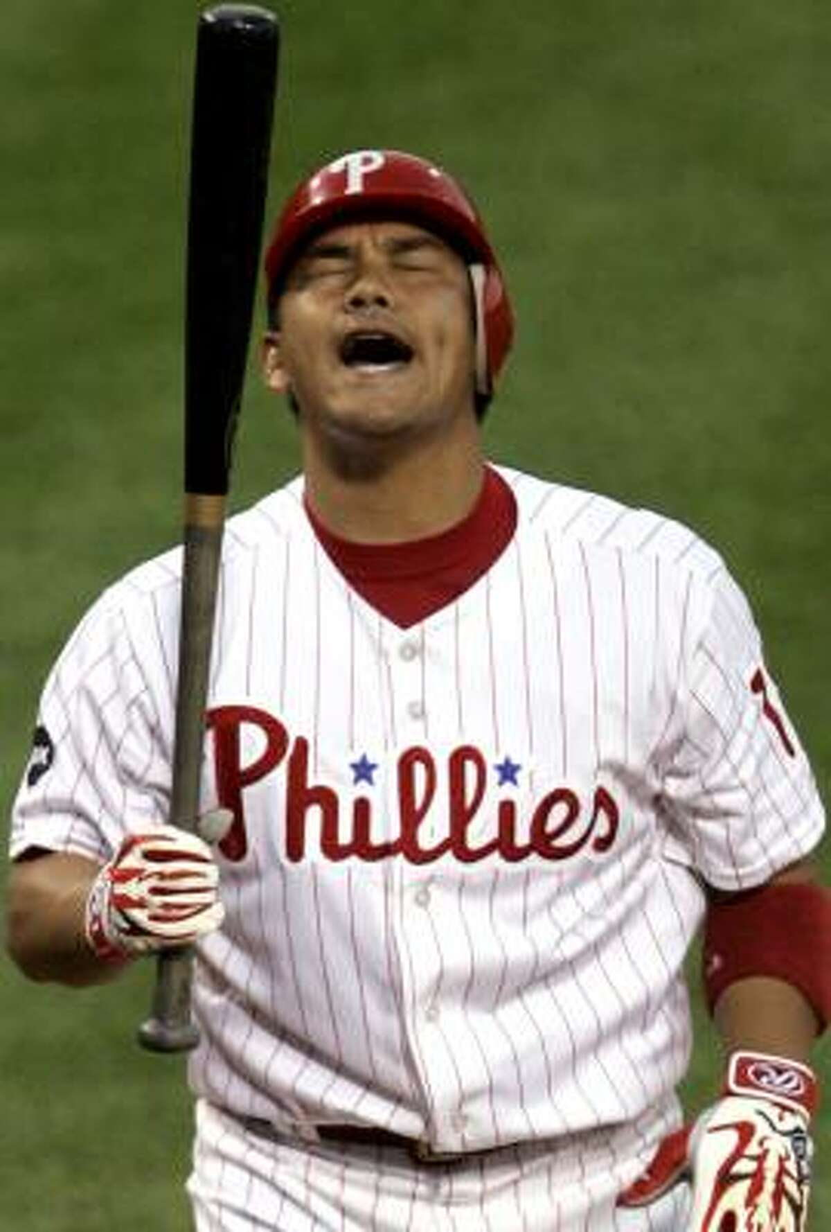 The Astros have expressed an interest in Tadahito Iguchi, who split last season with the White Sox and Phillies.