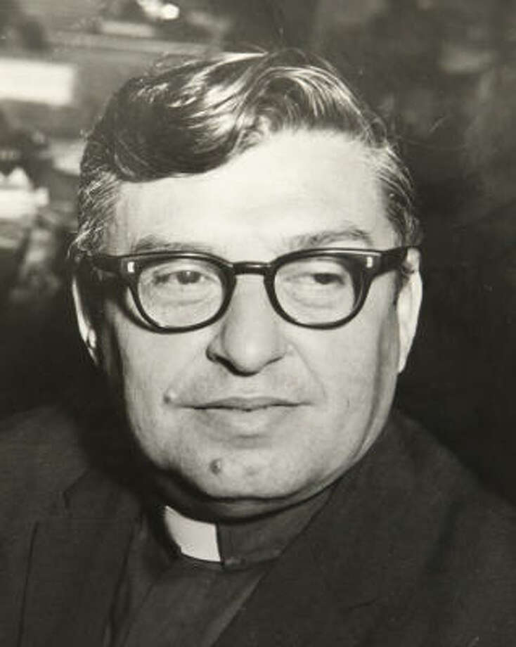 The Rev. Lawrence Peguero, shown in 1970, pastored Our Lady of St. John Catholic Church. Photo: Chronicle File
