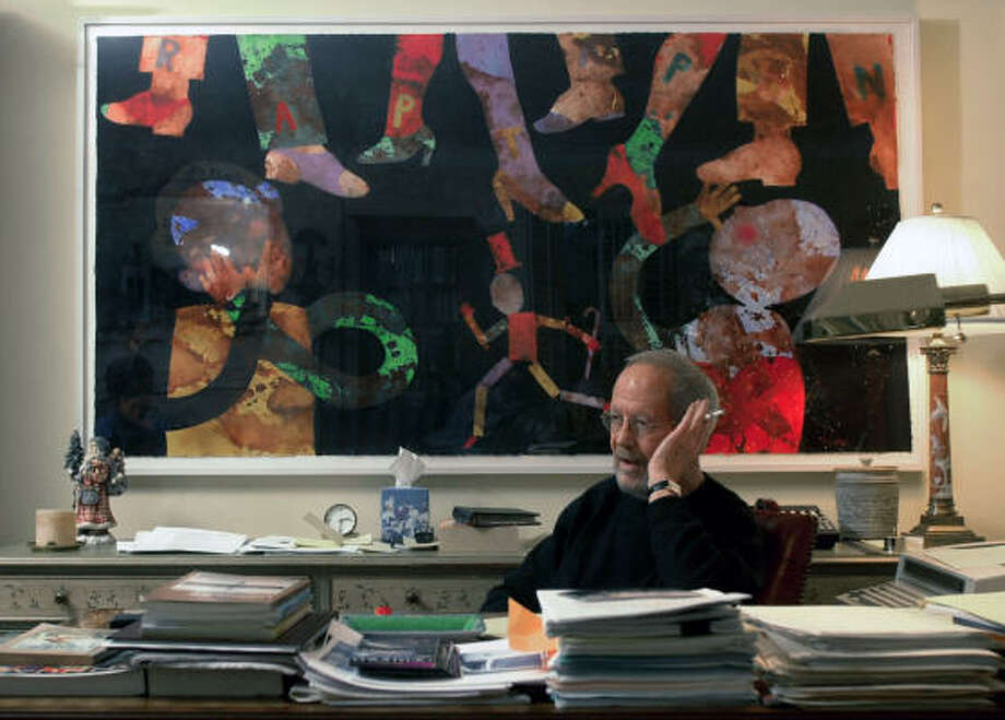Elmore Leonard spent six decades penning novels, screenplays and short stories with his own distinct and succinct writing style. Photo: PAUL SANCYA :, AP