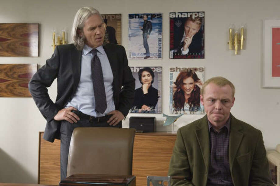 Simon Pegg stars opposite Jeff Bridges, left, in the comedy How to Lose Friends & Alienate People. Photo: Kerry Brown/MGM