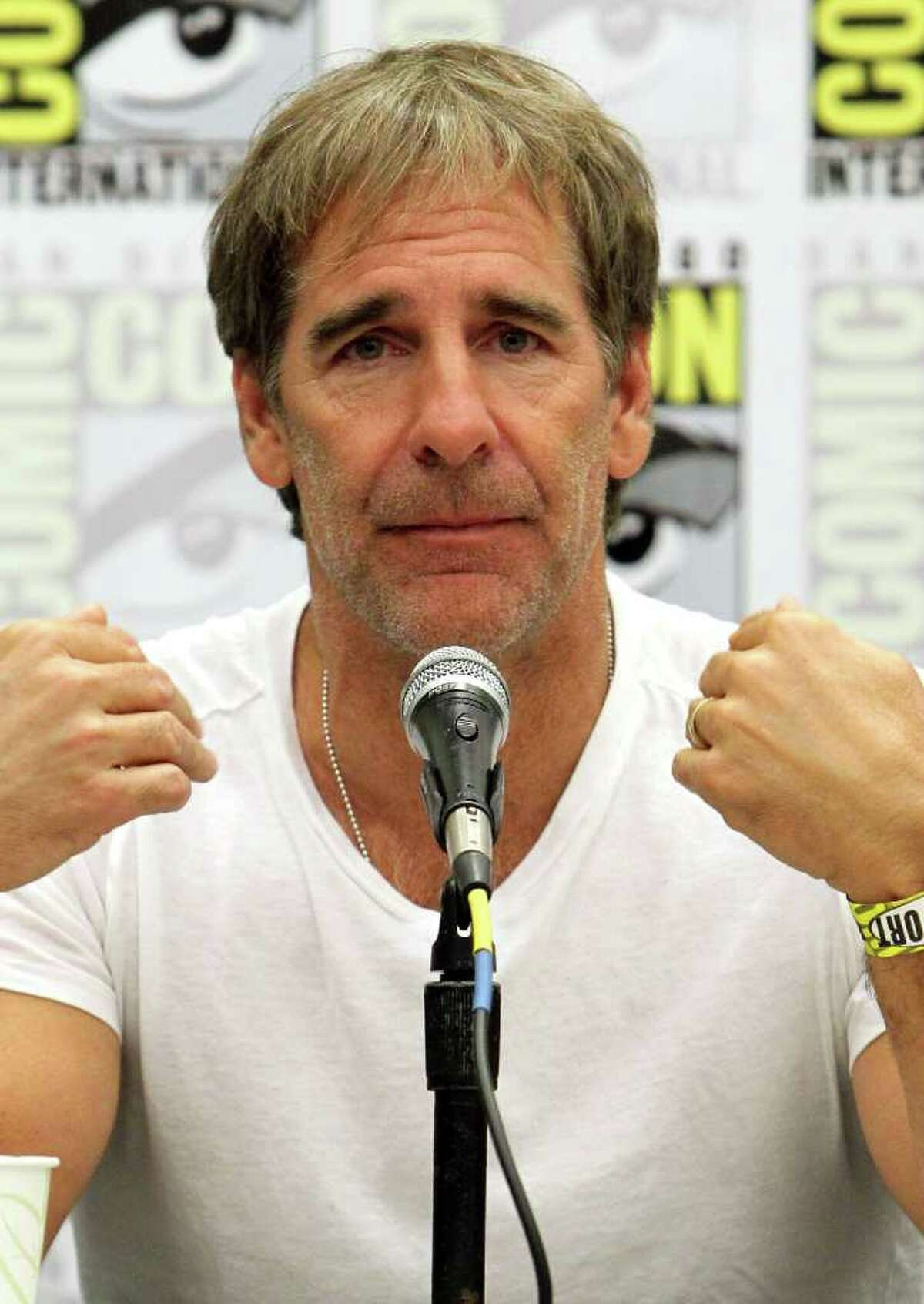 """Actor Scott Bakula, of """"Star Trek: Enterprise,"""" speaks at the """"Shatnerpalooza"""" Press Conference during Comic-Con 2011 on July 22, 2011 in San Diego, California."""