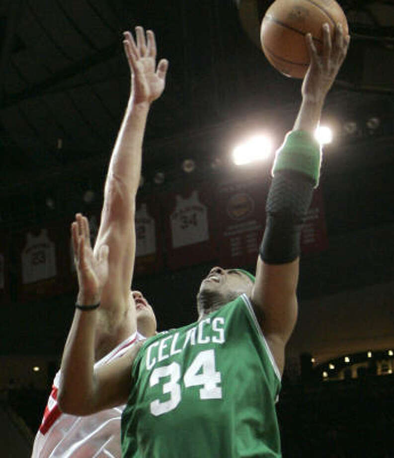 Jake Tsakalidis' appearance in Monday's loss to Boston was only his fourth of the season. Photo: Pat Sullivan, AP