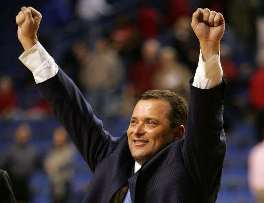 The good times are poised to keep on rolling for A&M fans. Billy Gillispie on Thursday was removed from Arkansas' list of potential targets to fill its vacant head-coaching position. Photo: Andy Lyons, Getty Images