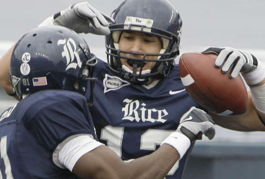 After two seasons at Rice, James Casey won't have to travel far to begin his NFL career. Photo: Melissa Phillip, Chronicle