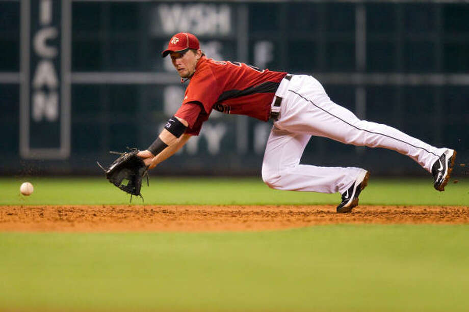 Chris Johnson will be a regular in the mix at third base with Pedro Feliz. Photo: Smiley N. Pool, Chronicle