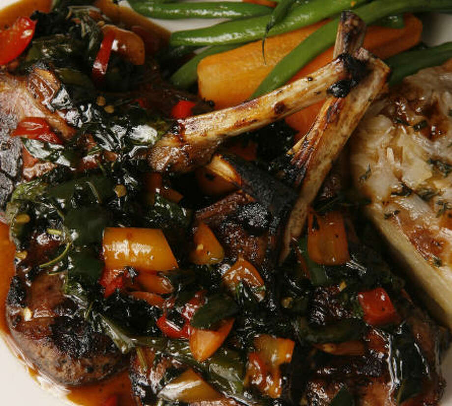 Basil-flavored lamb chops at Tony Thai. Photo: Steve Campbell, Chronicle