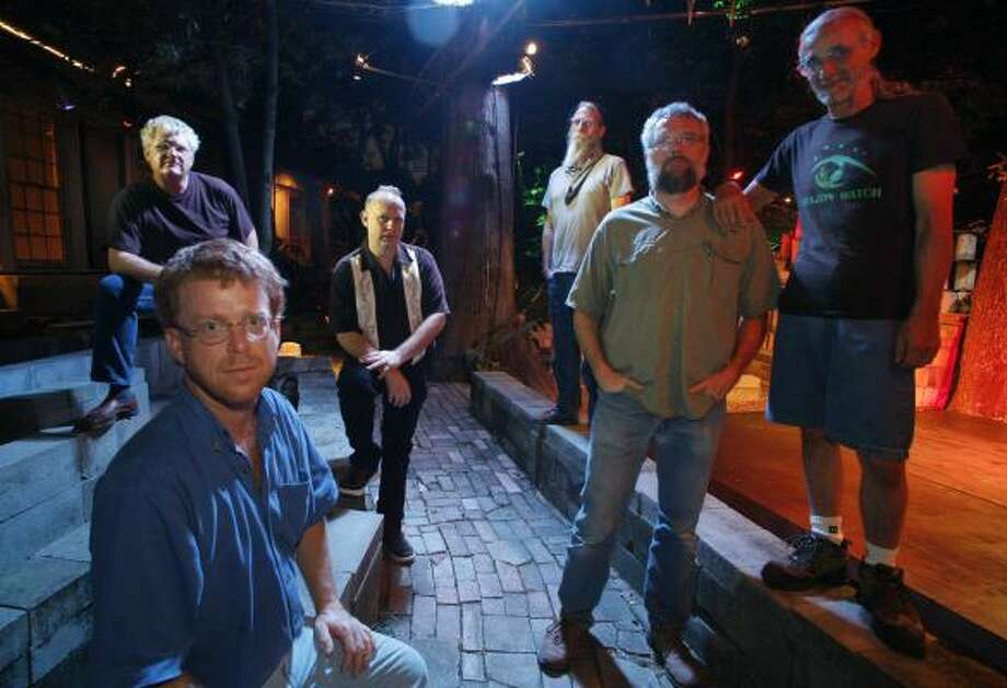 Mark Larsen, front left, and his creative team — Frank Golden, from left, Bill Day, Ted Barwell, Malcolm Hackney and Mike Roberts — have big things planned for the Artery. Photo: STEVE UECKERT, CHRONICLE