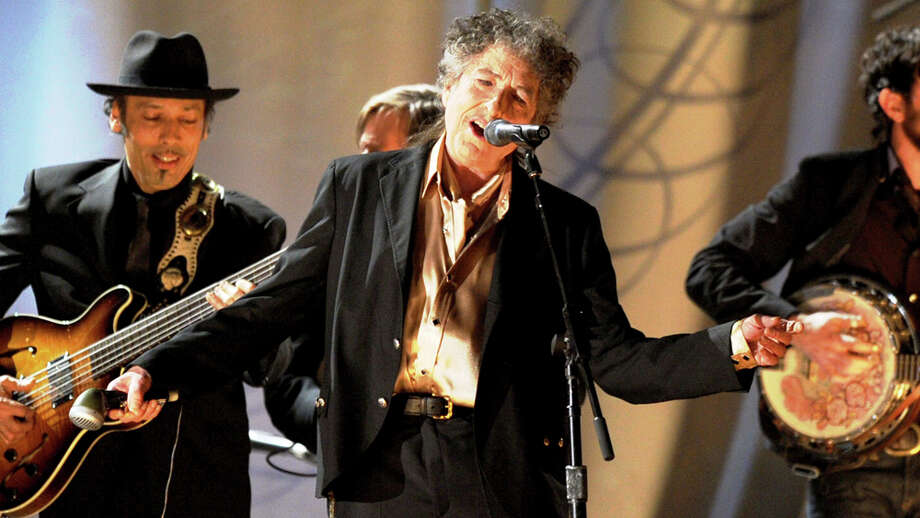 Bob Dylan performs with the Avett Brothers and Mumford and Sons in February during the 53rd Annual Grammy Awards in Los Angeles.