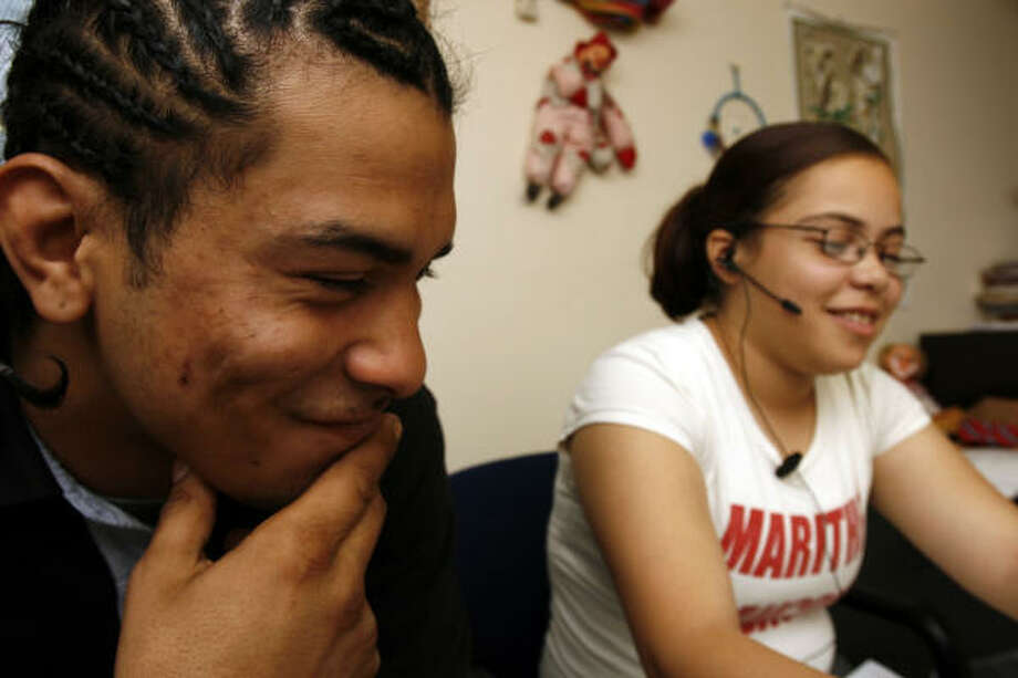 Foster care veterans Johnny Moya, 20, and Gracie Gonzalez, 19, were reunited with siblings at HAY Center. Photo: Johnny Hanson, For The Chronicle
