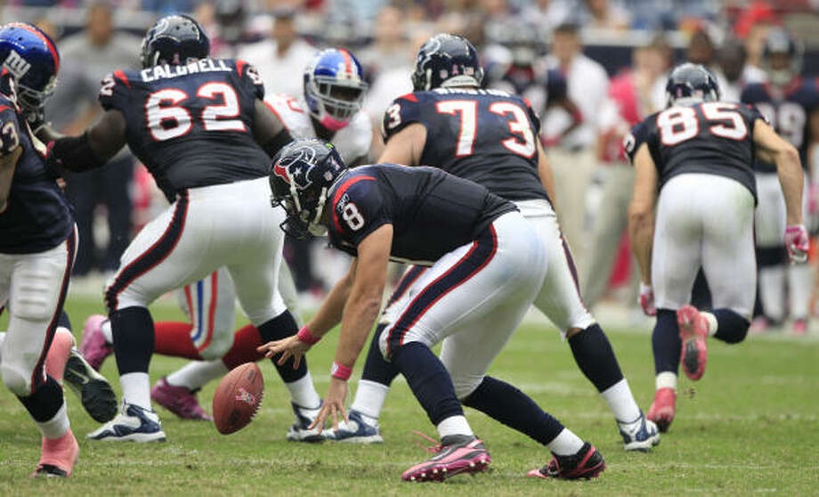 The Texans quickly fell behind by 21 against the Giants and suffered their worst loss in almost two years. Photo: Brett Coomer, Chronicle