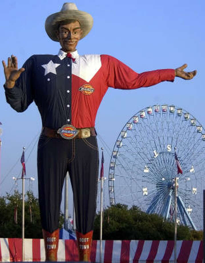 It costs the Texas State Fair in Dallas $600 to get Big Tex's clothes dry cleaned. Photo: LM OTERO, Associated Press