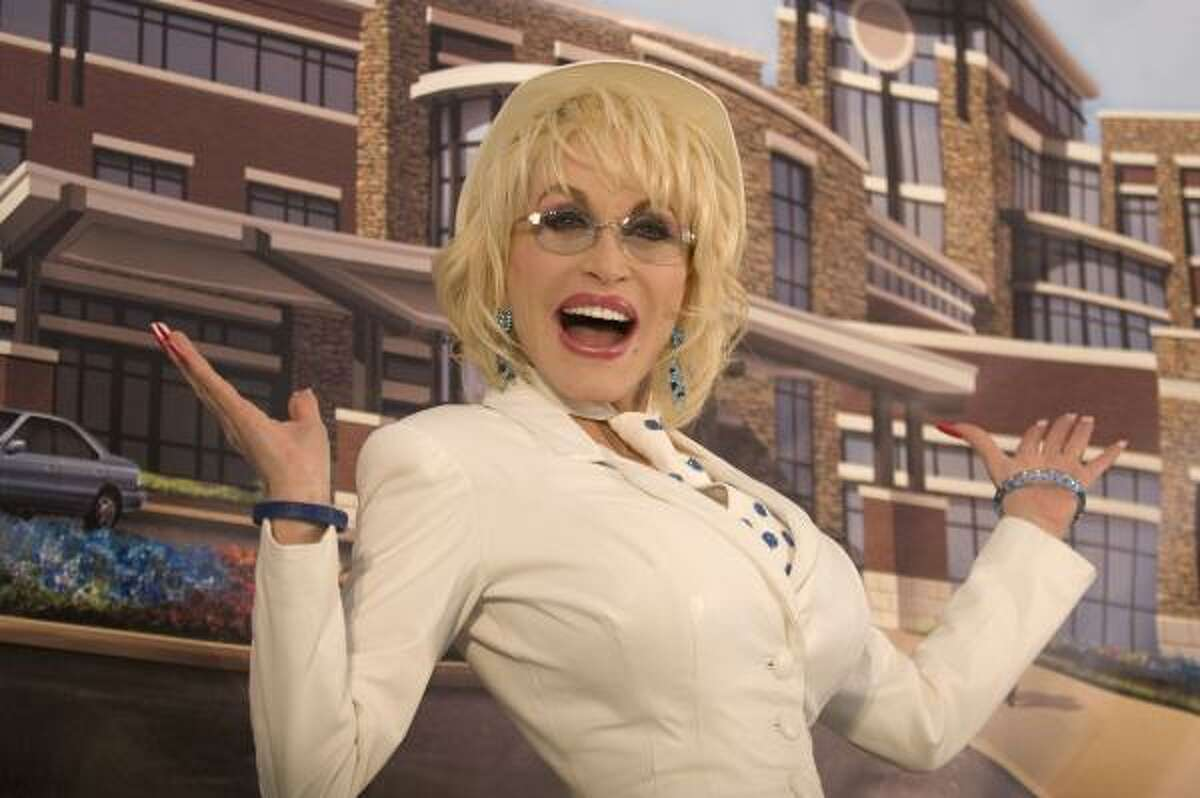 Dolly Parton made a surprise visit to Fort Sanders Sevier Medical Center during a groundbreaking for their new medical campus on Monday in Sevierville, Tenn.
