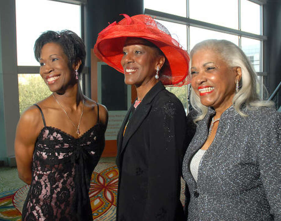 Stepping out at the Ivy Educational and Charitable Foundation luncheon and style show were honorary chair Lauren Anderson, from left, honoree Marsherria Wilson and honorary chair Annette Cluff. Photo: Dave Rossman, For The Chronicle