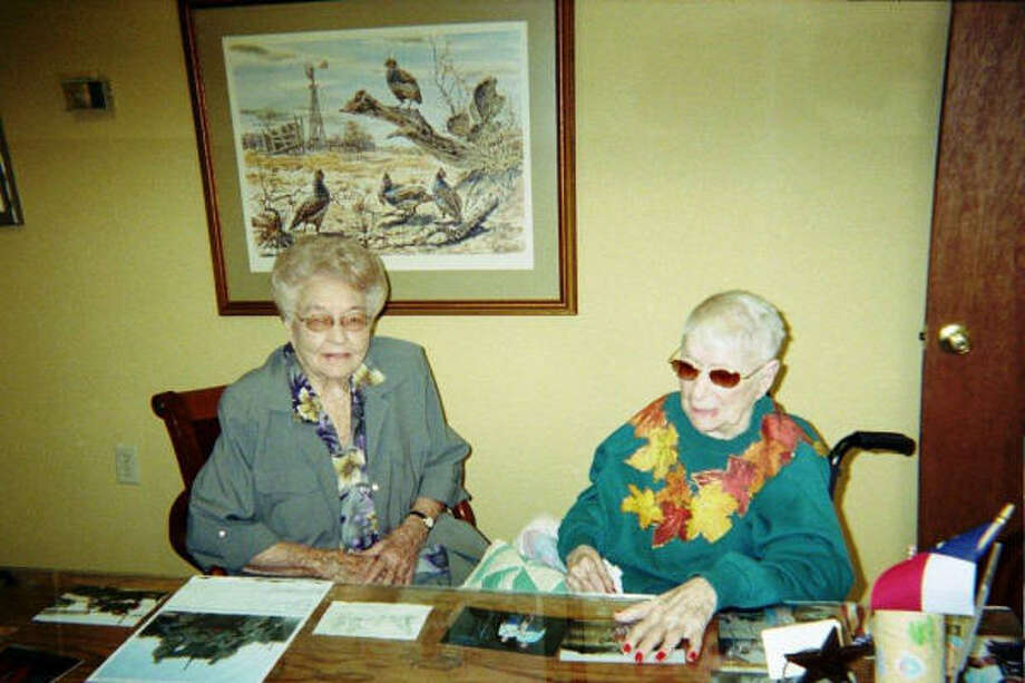 Eunice Sanborn, right, plans to celebrate her 112th birthday in a few months. Photo: David French, For The Chronicle