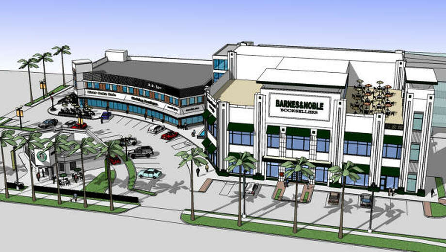 The River Oaks Shopping Center will have a new look unless plans change. Photo: Weingarten Realty Investors
