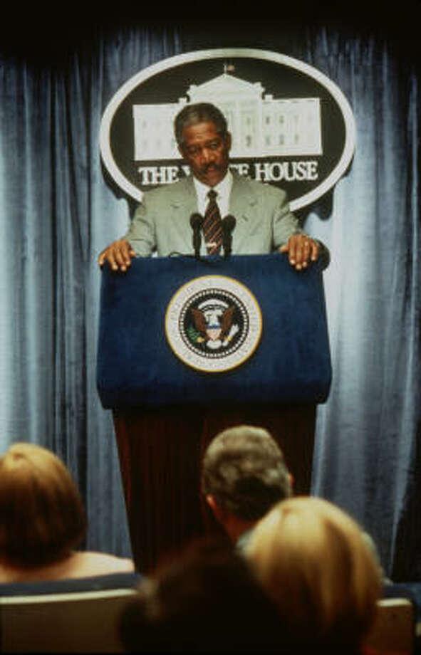 "Morgan Freeman portrays the president of the United States in ""Deep Impact."" Photo: Myles Aronowitz, Paramount Pictures"