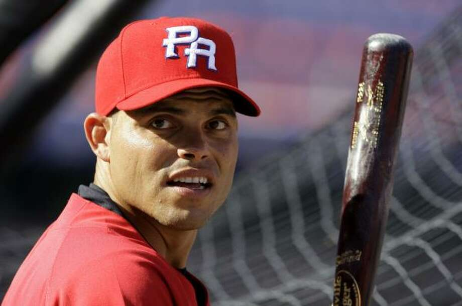 With Puerto Rico's run at the World Baseball Classic over, Ivan Rodriguez will join the Astros. Photo: Lynne Sladky, AP