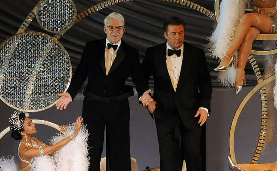 Steve Martin, left, and Alec Baldwin teamed up for some comic relief as Oscar co-hosts. Photo: GABRIEL BOUYS, AFP/Getty Images