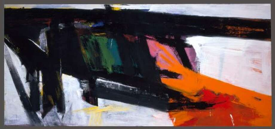 Orange and Black Wall(1959) is one of four Franz Kline paintings in Modern and Contemporary Masterworks From the MFAH. Photo: THE FRANZ KLINE ESTATE | ARTISTS RIGHTS SOCIETY, NEW YORK